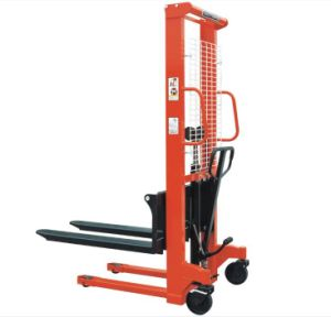 Hand Hydraulic Fork Lift Type Manual Pallet Stacker with Adjustable Forks pictures & photos