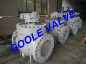 150LB/300LB/600LB/900LB/1500LB Gear Operated Top Entry Trunnion Mounted Ball Valve (GASQ347F) pictures & photos
