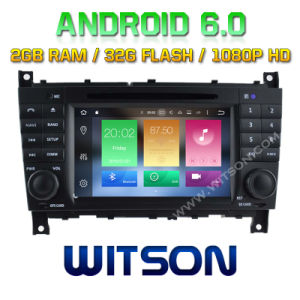 Witson Octa-Core (Eight Core) Android 6.0 Car DVD for Mercedes-Benz C Class 2g ROM 1080P Touch Screen 32GB ROM pictures & photos