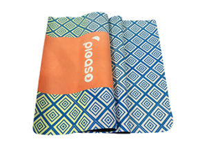 Hot Sale Microfiber Yoga Mat with Natural Rubber Backing