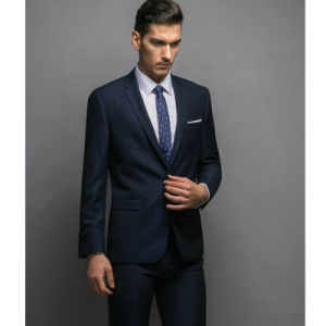 Custom Hand Work Men′s Official Business Suits of T/R pictures & photos