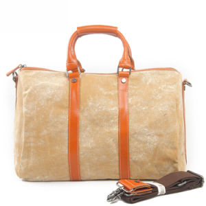 Washed Canvas Leather Handstrap Man Handbags Outdoor Travel Bag (RS-1011) pictures & photos
