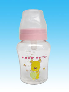 Best Customized Brand with Spoon BPA Free 100% Food Grade Plastic PP Baby Feeding Bottle