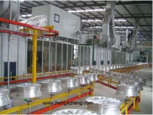 Conveyorised Automatic Spray Powder Coating Line for Wheel Hub pictures & photos