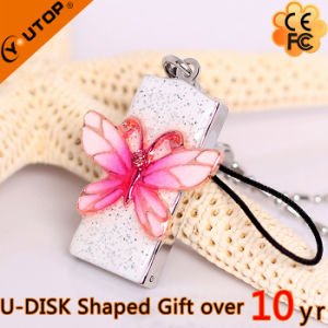 OEM Gift Pink Metal Crystal USB Pendrive (YT-6275) pictures & photos