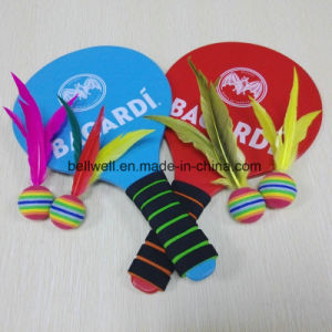 Promotion Gift Play for Fun in Four Seasons Wood Badminton Racket with 4PCS Replacement Feather Birdies pictures & photos
