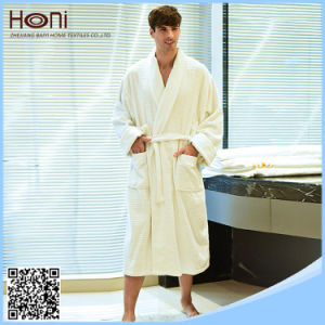 100% Cotton White Hotel Men Bathrobe