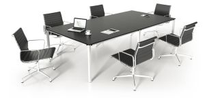 Steel Metal Base MFC Wooden Conference Table /Conference Desk (NS-NW307) pictures & photos