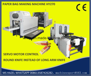 Sharp Bottom Hy270 Paper Bread Bag Making Machine pictures & photos