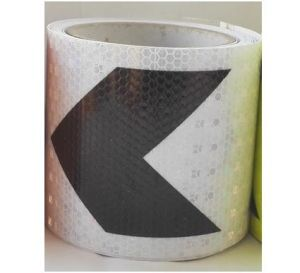10cmx2m, Reflective Adhesive Tape with Black Arrow, Reflective Tape Sticker for Truck, Car, Motorcycle pictures & photos
