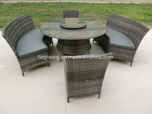 5 Pieces Curved Sofa Set Wtih Lazy Susan Dining Furniture pictures & photos