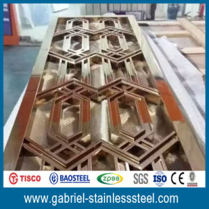 Rose Gold Classic Design Stainless Steel Screen/Partition pictures & photos