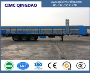 3 Axle 20FT 40FT Container Chassis Flatbed Semi Trailer pictures & photos