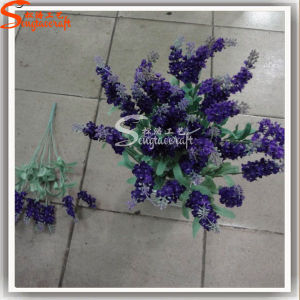 Silk Artificial Lavender Flowers for Home Decoration in Bouquet pictures & photos