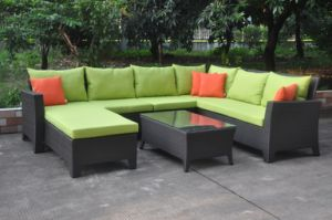 Popular New Design Combination PE Rattan Sofa with Garden Sofa pictures & photos
