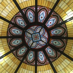 Cathedral or Mosque Inside Laminated Stained Glass Ceiling Dome pictures & photos