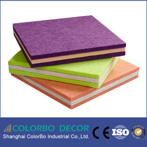 Hotel Decoration Colored Polyester Fiber Acoustic Ceiling Board pictures & photos