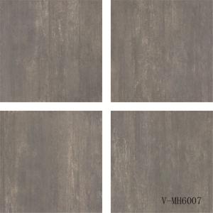 Porcelain Matte Finish Natural Different Faces Dark Grey Indoor Floor Tile (600X600mm)