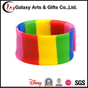 Rainbow Colored 100% Silicone Slap Wristband/Bracelet/Rubber pictures & photos