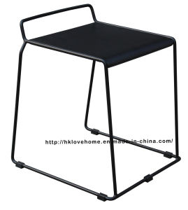 Modern Replica Steel Furniture Wooden Dining Black Bar Stools pictures & photos