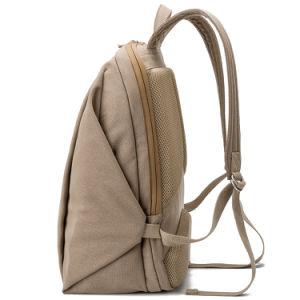 New Design Khaki Color Waterproof Laptop Canvas School Backpack Racksack Bag pictures & photos