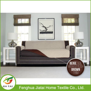 Custom Quilted Anti-Slip Sofa Cover Polyester Furniture Protector for Kids and Pets Machine Washable pictures & photos