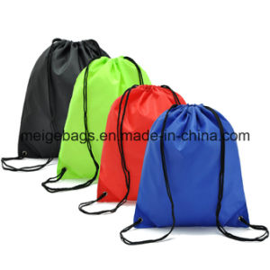 Polyester Drawstring Shopping Bag, with Custom Size and Design pictures & photos