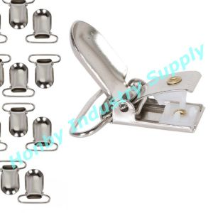 25mm Metal Suspender Clips for Making Pacifier Holders