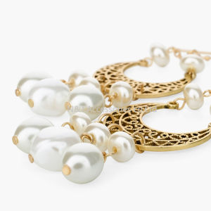 New Statement Earrings Popular Simulated Pearls Big Earrings pictures & photos