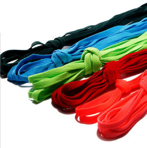 Custom High Quality Colorful Rope Flat Shoelace pictures & photos