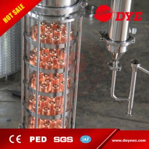 Industrial Red Copper Glass Alcohol Flute Distillation Column pictures & photos