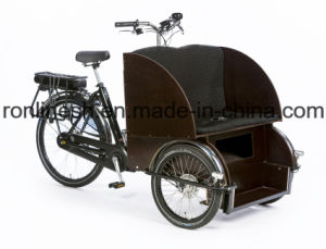2017 Wider Body Pedal/ 250W/500W Electric Pedicab/Pedicab Rickshaw/Rickshaw/Tricycle/Trike/Electric Rickshaw with Front Passenger Seat pictures & photos