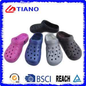 Winter Warm Cotton Linning Women Clogs (TNK35743-1) pictures & photos