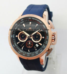 Luxury Dress Big Face Chrono Mens Watches Rubber Band Men Sport Watch pictures & photos