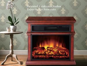 3 Side View Electric Fireplace Heater