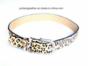 Leopard Grain PU Leather Belt Full Grain Leather Strip for Belt pictures & photos