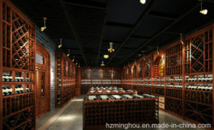 Customized Wood Furniture High Class Sumptuous Wine Cellar pictures & photos