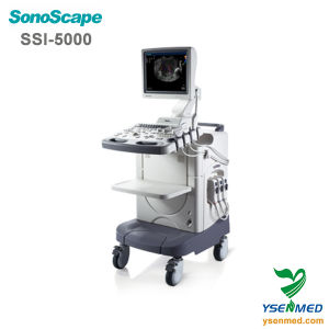 Hospital Sonoscape Ssi-5000 Trolley 4D Color Doppler Ultrasound pictures & photos