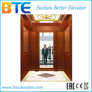 Mrl Vvvf 1000kg Wooden Decoration Passenger Elevator with Ce pictures & photos