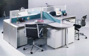 Office Layout Divider Workstation with Hang Cabinet pictures & photos