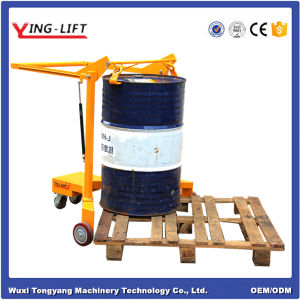 Hand Steel Pallet Oil Drum Truck pictures & photos