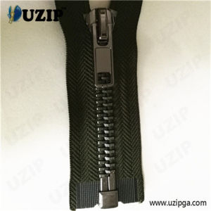 Clothing Accessory Gun Metal Zipper / #10 Metal Zipper / Metal Separating Zipper