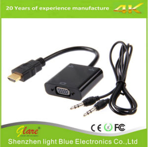 HDMI Male to VGA Female Cable with 3.5mm Audio Output pictures & photos