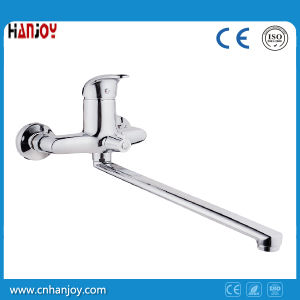 Modern Long Spout Bathroom Faucet with Shower Kit pictures & photos