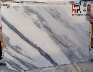 Natural White with Grey Landscaping Veins Marble Slab From China for Wall Cladding/ Flooring