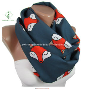 Europe Micro Fiber Fox Printed Neck Warmers Fashion Lady Scarf Factory pictures & photos
