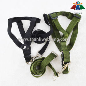 Hot-Sale High-Quality Solid Color Military Style Polyester Dog Harness & Leash pictures & photos