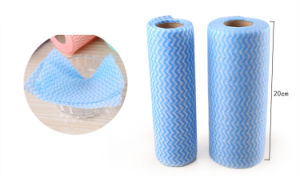 Cleaning Cloth Tear off Point Roll Dish Cloth Nonwoven Microfiber pictures & photos