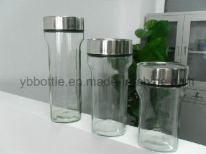 Clear Glass Food Storage Jar