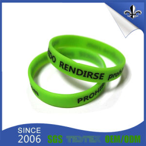 Custom High Quality Braided Silicone Bracelet for Festival pictures & photos